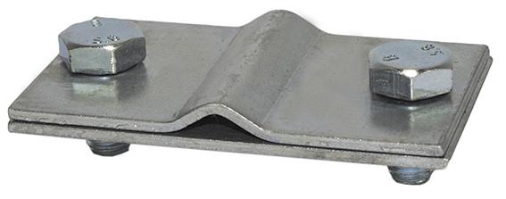 Соединитель провод-полоса с 2 болтами, провод d8-10мм/полоса 40x4мм, сталь оцинкованная DKC