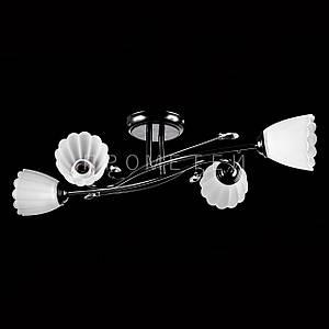 Люстра стельова на 4 лампочки P3-17061/4C/BK+WT