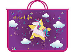 Портфель пластиковый My unicorn А4 на змейке