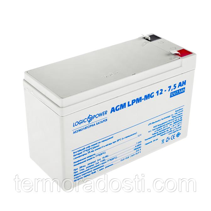Аккумулятор мультигелевый Logic-Power AGM LPM - MG 12 - 7.5 AH