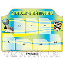 Информационный стенд Методический вестник (глобус, книги)