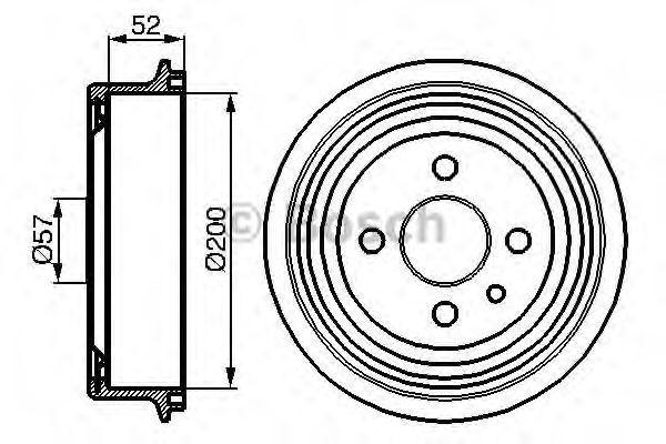 Тормозной барабан Ланос Bosch