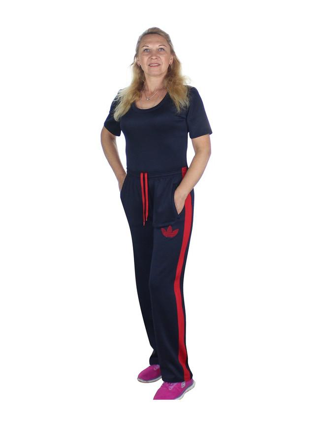 женские спортивные брюки с красными лампасами