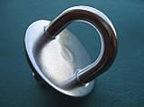 Нержавеющий обушок на круглом основании, с резьбой., фото 4