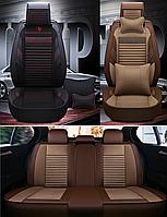 Модельные чехлы CAN на передние и задние сиденья Lada КАЛИНА  - экокожа и ткань
