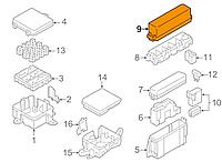 Крышка блока предохранителей узкого левого под лобовым стеклом Nissan Leaf ZE0 / AZE0 (10-17) 24382-3NA0B