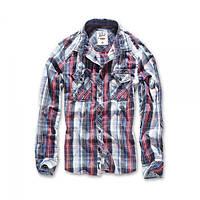 Рубашка в клетку мужская Brandit Central City NAVY WHITE