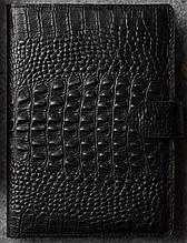 Кожаный ежедневник А5 Betterson CROCO Black, черный