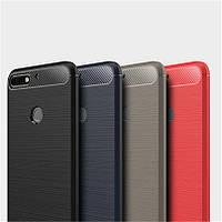 Защитный чехол iPaky Slim с карбоновыми вставками для Huawei Y7 Prime (2018) / Honor 7C