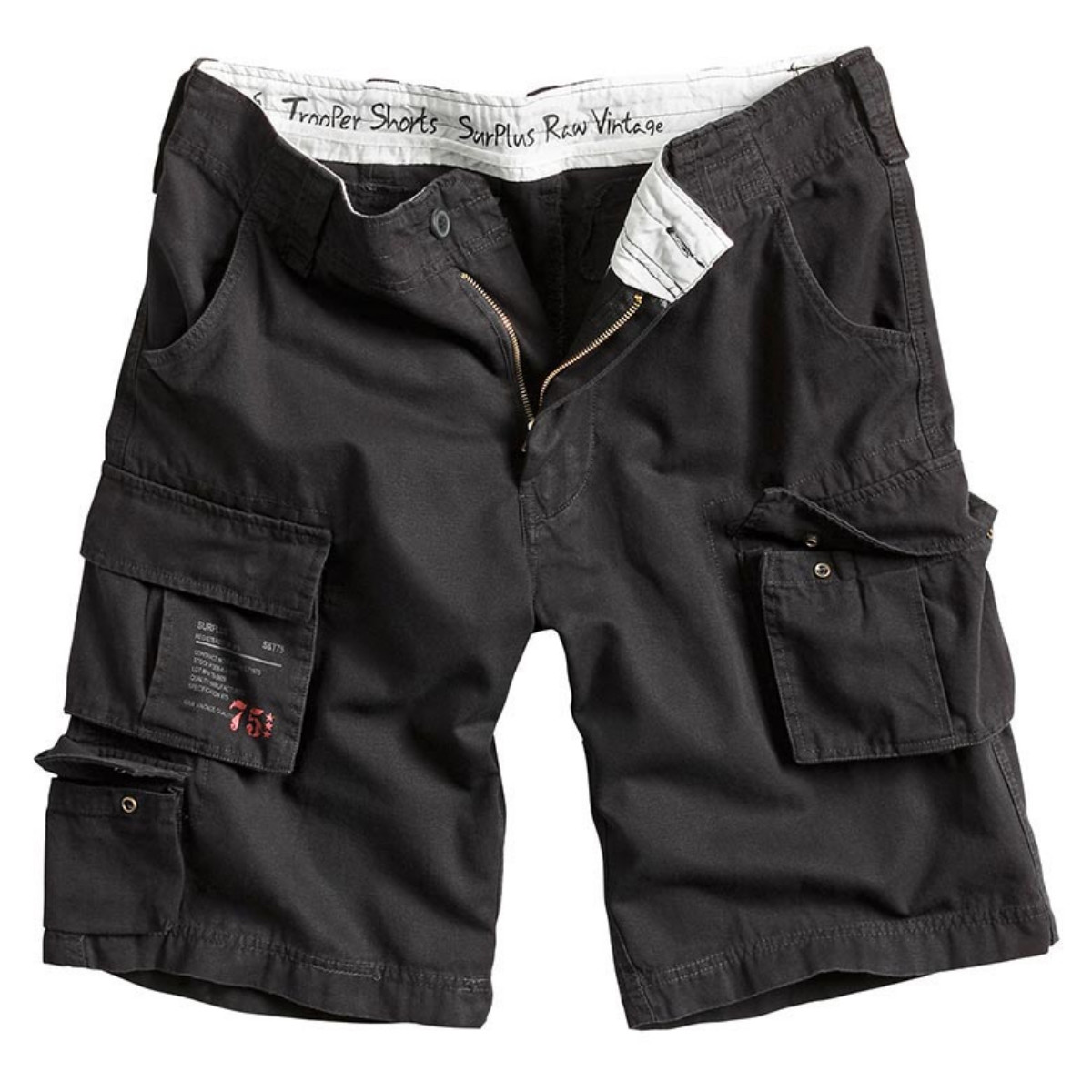 Мужские короткие шорты Surplus Trooper Shorts BLACK GEWAS