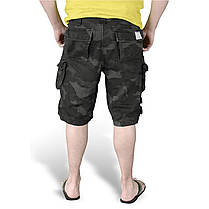 Мужские короткие шорты Surplus Trooper Shorts BLACK CAMO, фото 3