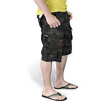 Мужские короткие шорты Surplus Trooper Shorts BLACK CAMO, фото 2