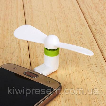 Мини-вентилятор на телефон Micro USB Fan, фото 2