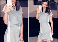 Серое спортивное платье туника Nicole (код 155) Реплика