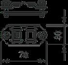 5336503 Розділ. зажим для круглих провідників Rd 8-10 і плоских провідників FL 30-40, біметал. 233 A ZV OBO, фото 3