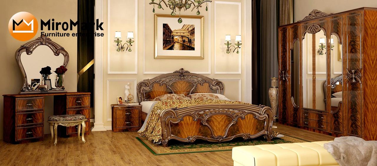 Спальня Olimpia перо орех