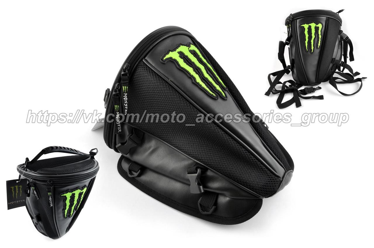 Рюкзак-сумка MONSTER ENERGY (mod:B-1, на хвост мотоцикла)