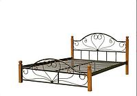 """Металлическая кровать """"Джоконда"""" на деревянных ногах, фото 1"""