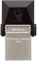 Usb 3.0 otg флеш kingston dt microduo 64 Гб (dtduo3/64gb)
