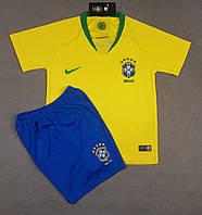 Детская футбольная форма сборной Бразилии домашняя 2018-20