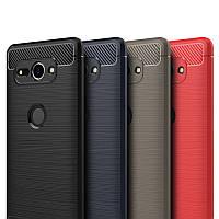 Защитный чехол iPaky Slim с карбоновыми вставками для Sony Xperia XZ2 (выбор цвета)