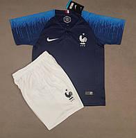 Детская футбольная форма сборной Франции домашняя 2018-20