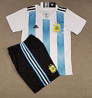 Детская футбольная форма сборной Аргентины домашняя 2018-20