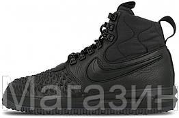 "Мужские кроссовки Nike Lunar Force 1 Duckboot '17 ""Black"" (Найк Лунар Форс 1 Дакбут) черные"