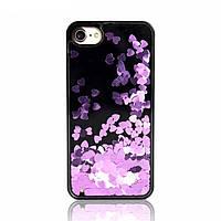 Чехол накладка xCase на iPhone 5/5s/5se Liquid фиолетовый №4