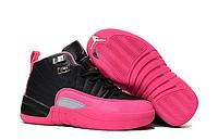 Женские баскетбольные кроссовки Nike Air Jordan 12 Retro Black Pink
