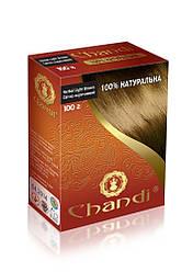 Лечебная аюрведическая краска для волос Chandi. Cветло-коричневый, миниатюра, 30г