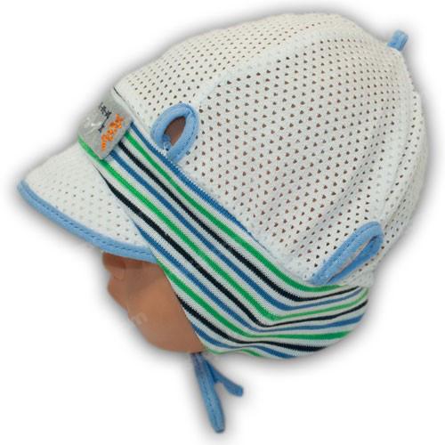 детская трикотажная шапка с сеткой