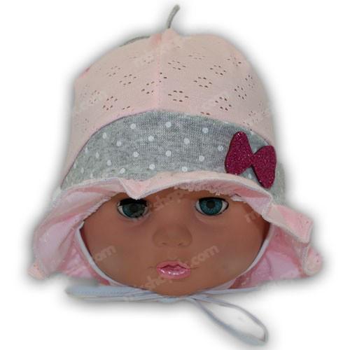 детская трикотажная панамка с сеткой