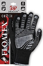Защитные рукавицы с дополнительным покрытием, с резинкой по краю FLOATEX BS Reis Польша