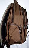 Мужской школьный черный рюкзак качества Люкс размер 30*47 см, фото 2