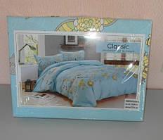 Двухспальное мягкое постельное белье Classic сатин Турция