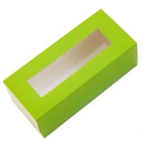 Коробка для Macaron  с окошком зеленая Украина - 04669