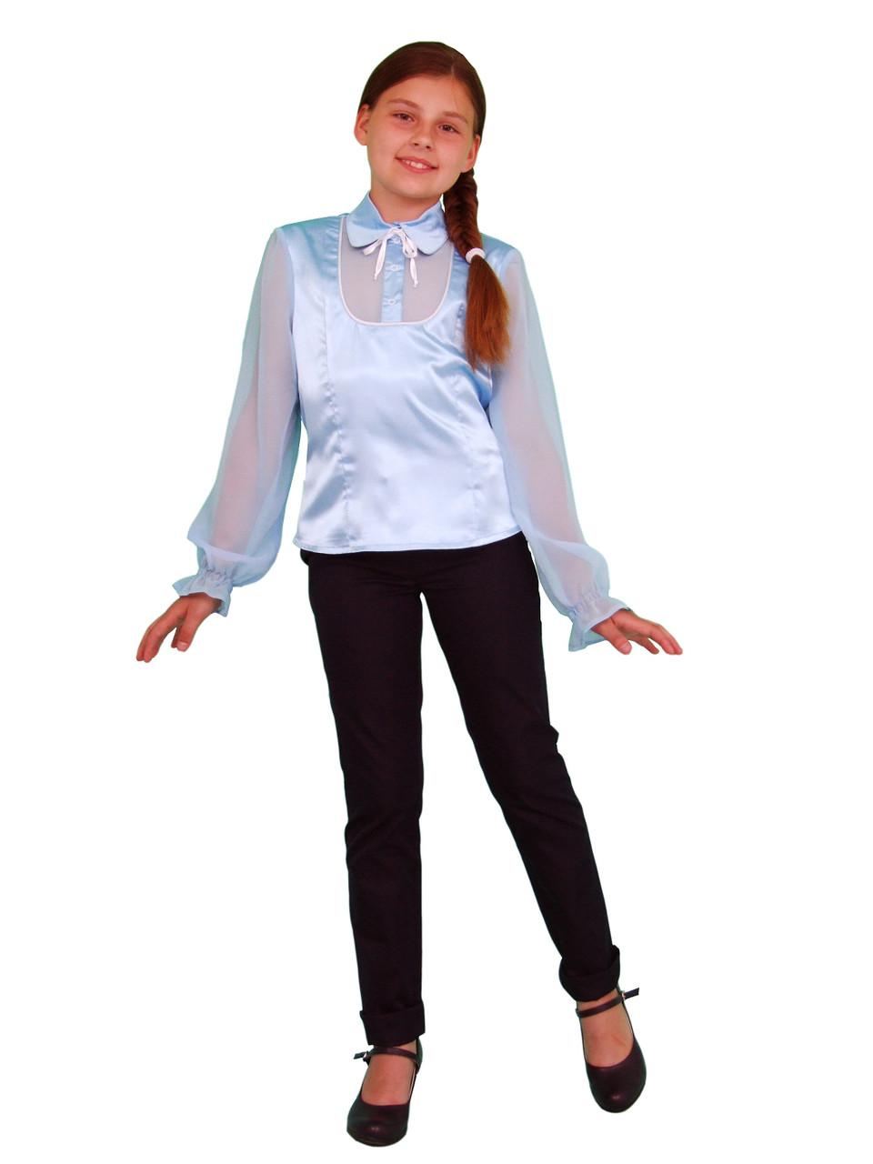 Блузка детская для девочек школьная М-561 рост 158 и 164 - ТОВ
