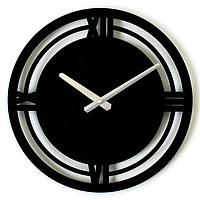 Эксклюзивные настенные часы металлические Glozis-B-002 Classic Классика Черные (35х35см) [Металл, Открытые, Цвета]