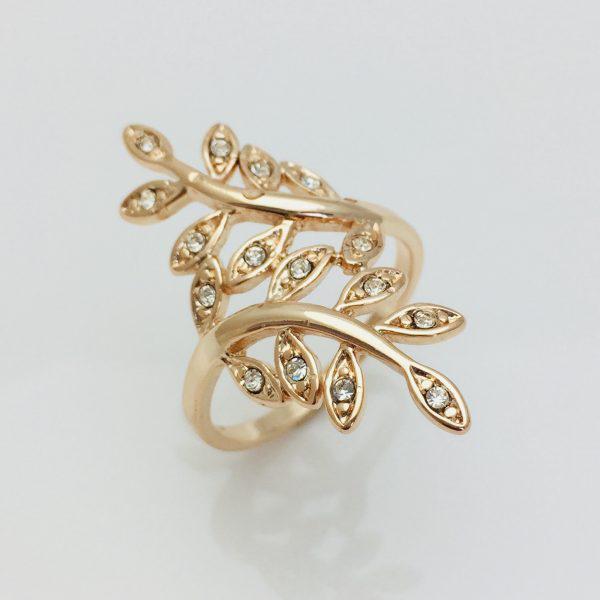 Кольцо Ветка, размер 16, 17, 18, 19   позолота 18К Fallon