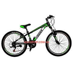 Подростковый велосипед Cross Atlas 24 дюймов черно-зеленый