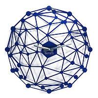 Эксклюзивные настенные часы металлические Glozis-B-007 Space Космос синие (50х50см) [Металл, Открытые, Цвета]