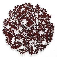 Эксклюзивные настенные часы металлические Glozis-B-013 Eternity Вечность коричневые (50х50см) [Металл, Открытые, Цвета]