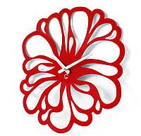Дизайнерские настенные часы металлические Glozis-A-041 Flower Цветок Черные (48х48см) [Металл, Открытые, Цвета]