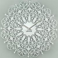 Настенные Часы металлические Glozis Ajur Ажюр белые (50х50 см) [Металл, Открытые, Цвета]