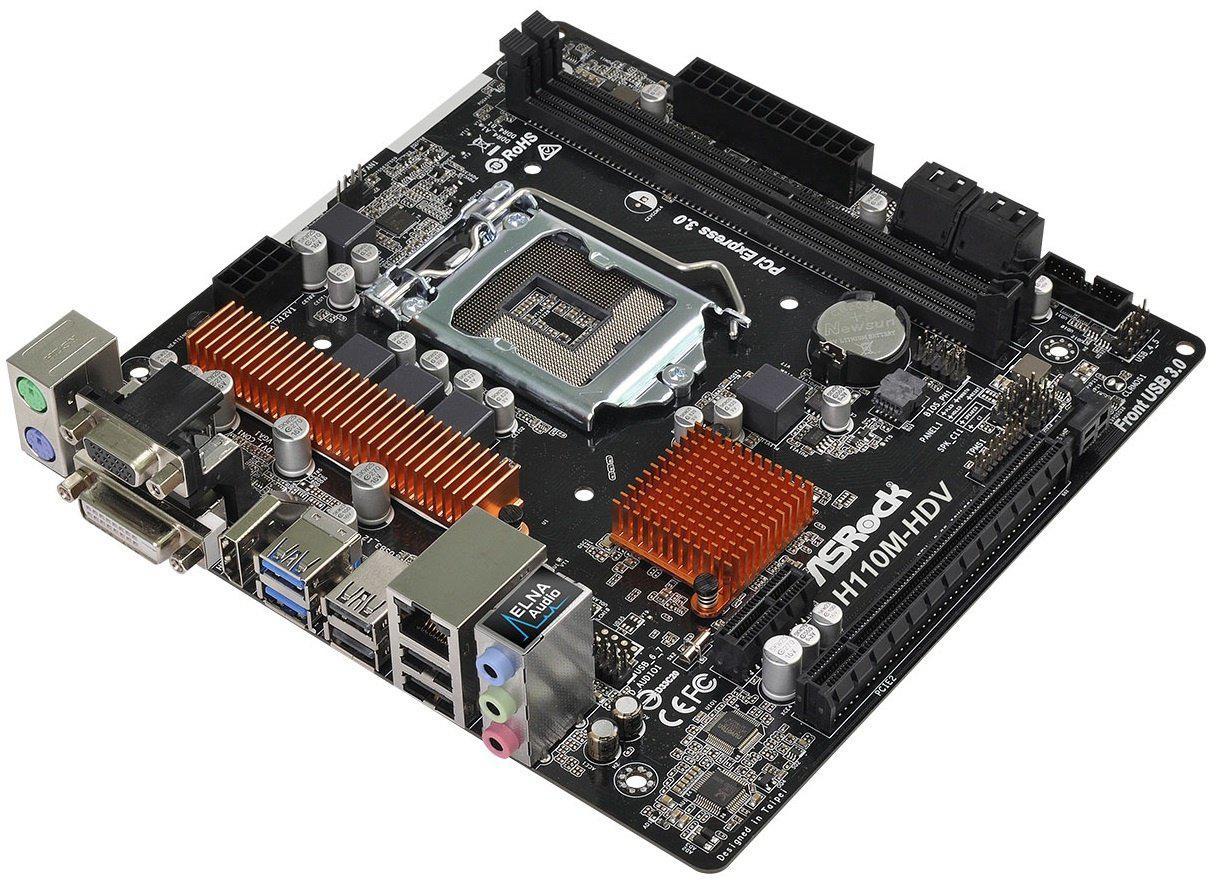 "Материнская плата ASRock H110M-HDV (rev3.02) s.1151 DDR4 ""Over-Stock"""