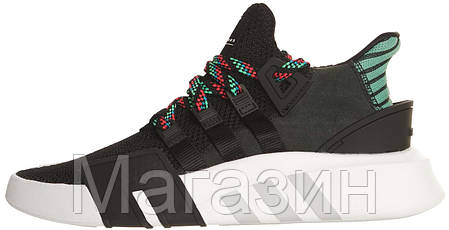 Мужские кроссовки Adidas EQT Support Basketball Adv Black Aдидас черные, фото 2