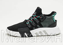 Мужские кроссовки Adidas EQT Support Basketball Adv Black Aдидас черные, фото 3
