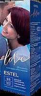 Стійка крем-фарба для волосся ESTEL LOVE тон 5/5 Червоне дерево