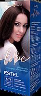 Стойкая крем-краска для волос ESTEL LOVE тон 6/74 Темный каштан